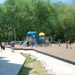 Here's the great playground where the kids were having tons of fun!